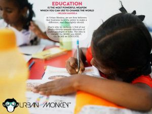 With Urban Monkey support we have helped around 130 children with their education this year