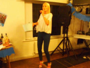 Alice Speaking at the fundraising event